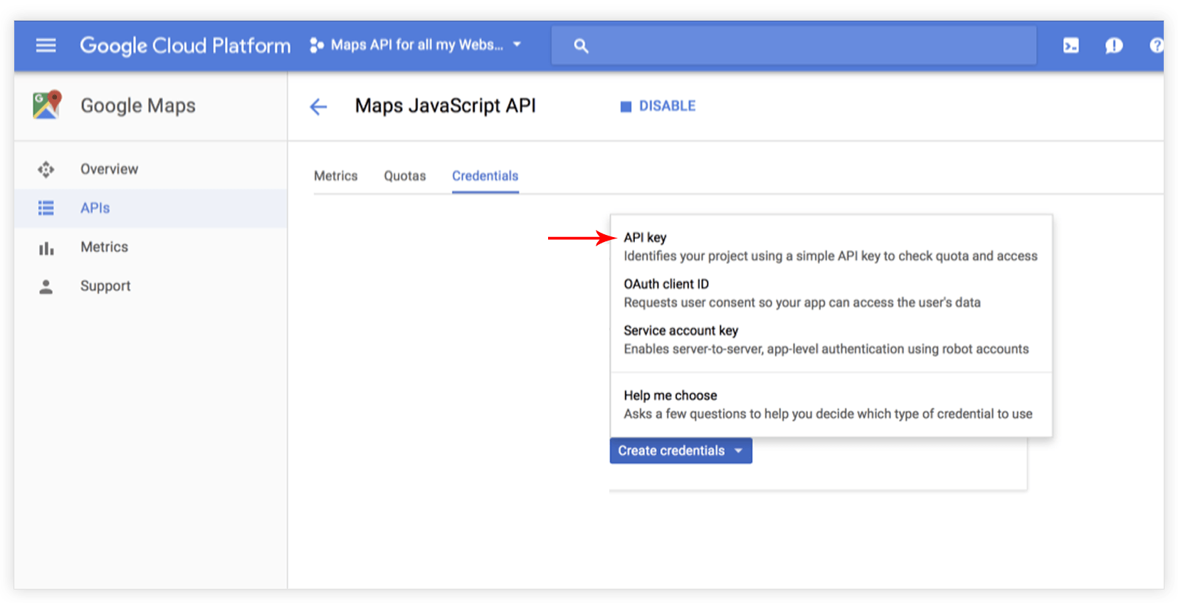 How to create Google API key in Google Maps module – Ultimate Addons