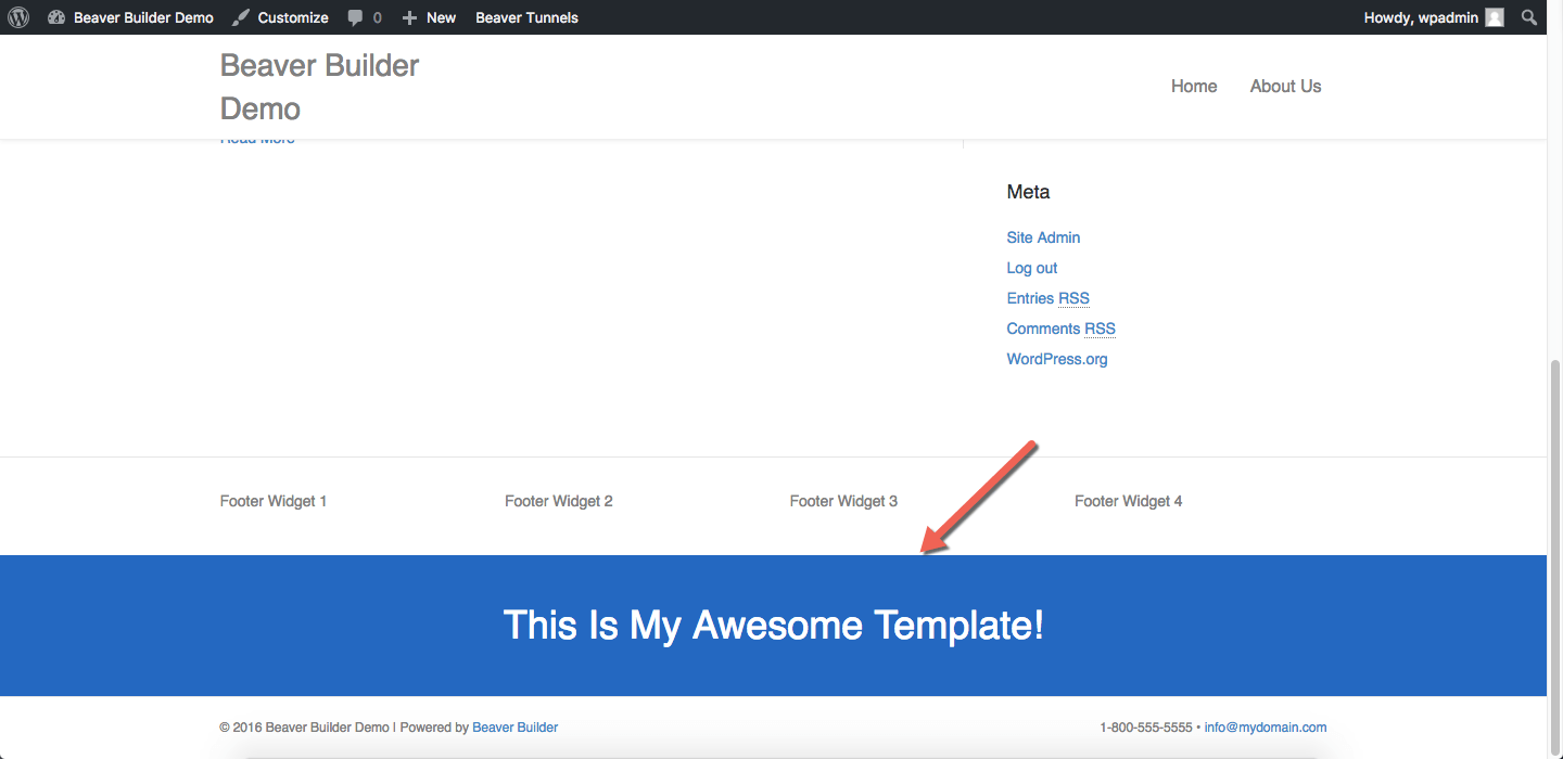 How To Display Beaver Builder Templates Sitewide Ultimate Addons
