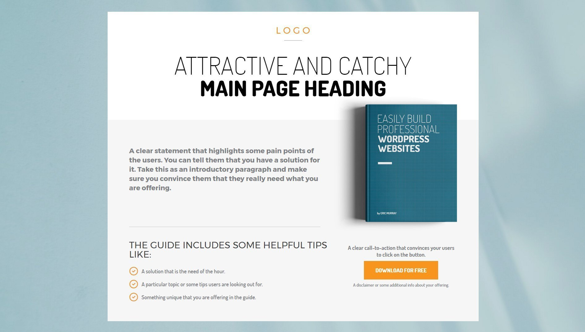 A short yet detailed page template for an ebook download ultimate addons beaver builder page template for ebook downloads pronofoot35fo Choice Image