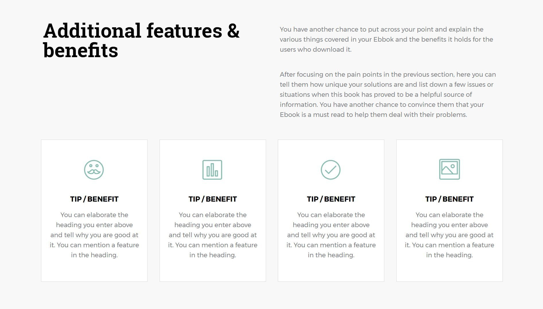 an aesthetic and engaging page template to offer a free