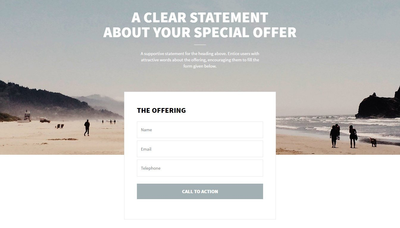 A Simple Business-Like Page Template for a Special Offer – Ultimate ...