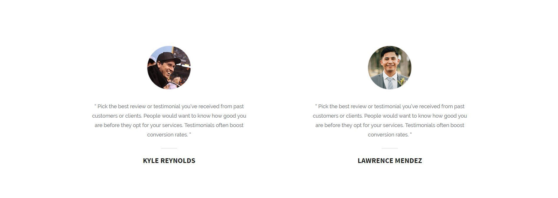 a trendy service page template offering an online quote ultimate