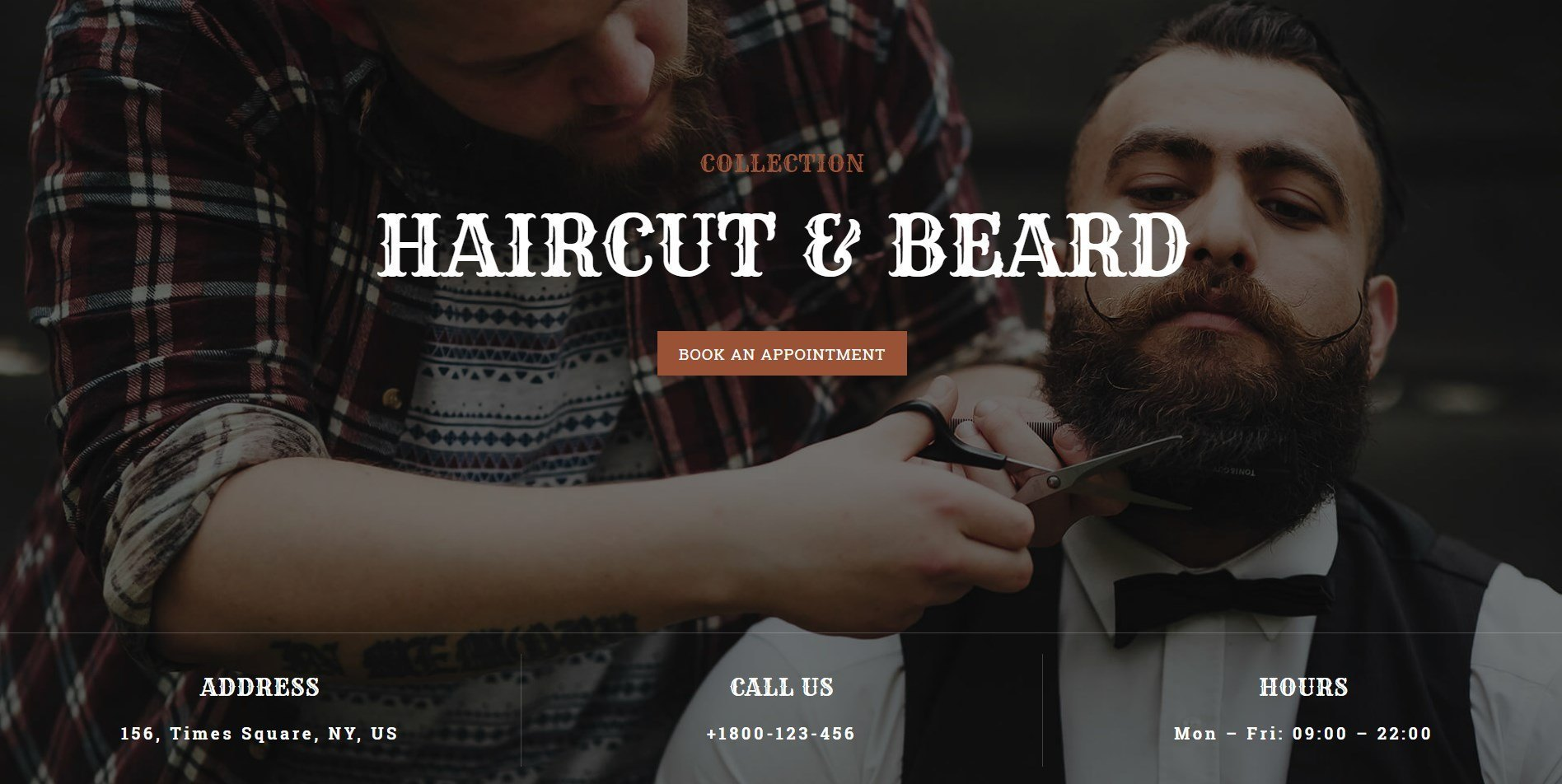 A Stylish And Happening Page Template For A Grooming Or A Barber