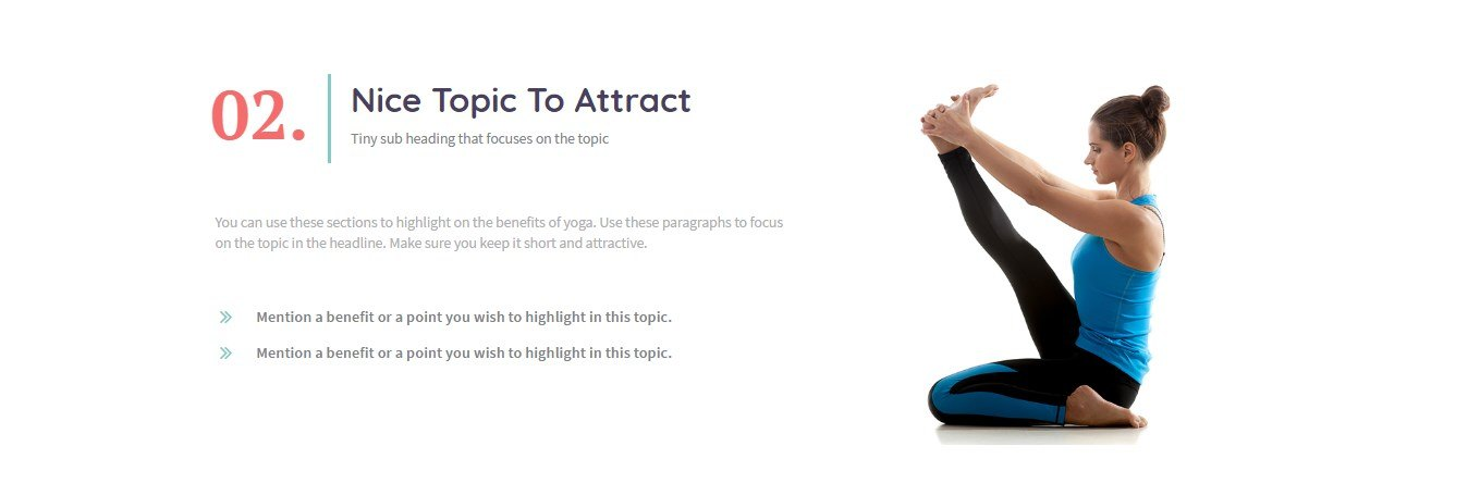 A Delightful page Template for Yoga and Health Service