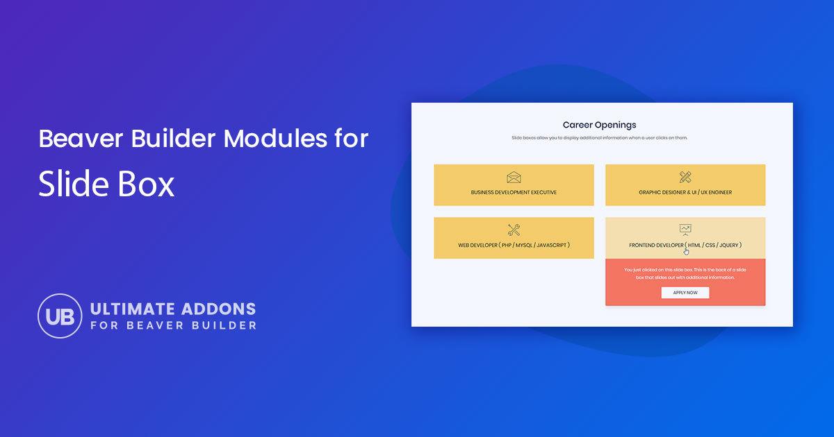 Slide Box Module for Beaver Builder – Ultimate Addons for Beaver Builder