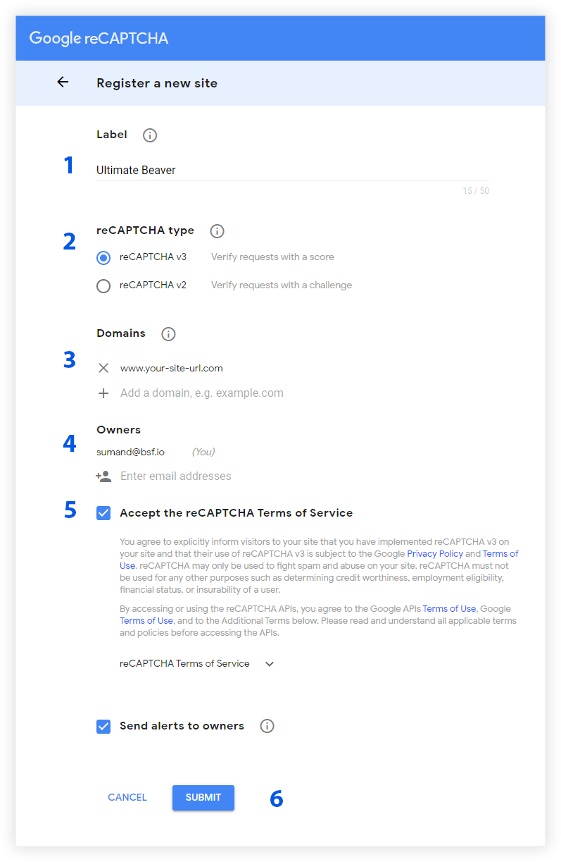 Steps to Fetch reCAPTCHA v3 from the Google Admin Console