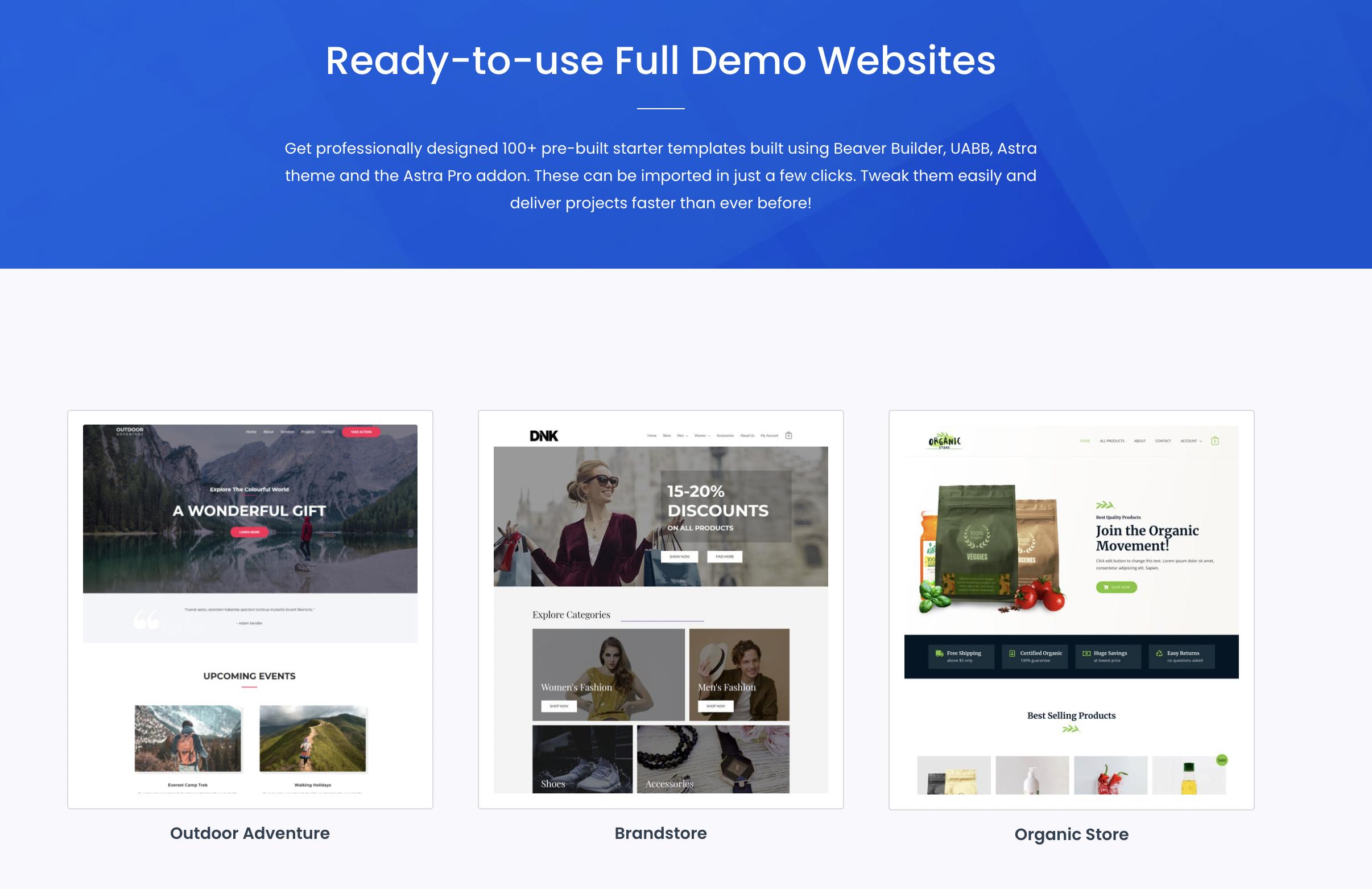 UABB Ready Website Templates